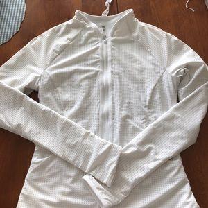 Jackets & Blazers - white Lululemon reversible zip jacket.